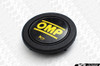 OMP Corsica 350mm Steering Wheel - Black Suede with Titanium Spokes