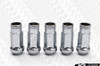 MUTEKI SR48 Open Ended Racing Lug Nut - Chrome Silver