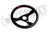 OMP WRC 350mm Black Leather Steering Wheel - OD/1980