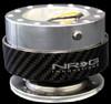 NRG Gen 1.0 Quick Release- Silver Body/ Carbon Fiber Ring