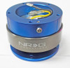 NRG Quick Release Gen 2.0 - Blue Body/Titanium Chrome Ring (5 hole base, 5 hole top)