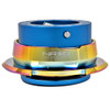 NRG Quick Release Kit Gen 2.8 (Blue Body w/ Diamond Cut Neochrome Ring)