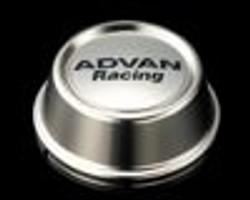 Advan Racing Center Cap 63 High Type- Bright Chrome