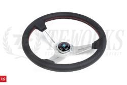 Nardi Sport Rally Deep Corn Perforated Leather / Silver Spoke  350mm Steering Wheel
