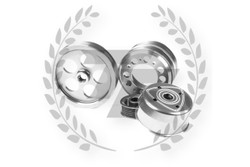 TF Lightweight Aluminum Pulley Kit Mazda RX7 FD3S 13B - SILVER POLISHED