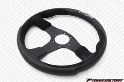 Personal Pole Position Steering Wheel 350mm Black Leather / Suede