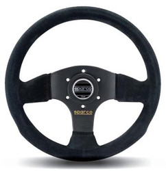 Sparco Competition P 300 Steering Wheel - 300mm Dia. - Suede