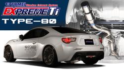 Tomei Expreme Ti Titanium Exhaust Type-80 - FRS/BRZ