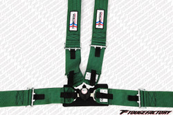 TeamTech 4pt. SFI Safety Seat Belt Camlock Harness - Custom Color, Pelvic Pads, Pull Loops, & Release Tab
