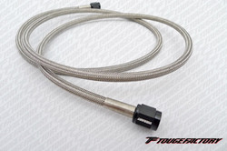 Vibrant Performance Stainless Steel Oil Feed Line -3AN 4 Foot Hose