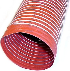 "SCAT - High Temp Orange Single-ply Silicone Brake Duct Hose 3"" Diameter"