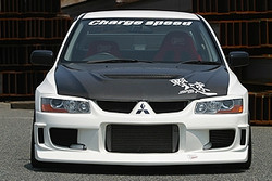 Charge Speed Type-1 Front Bumper: FRP - Mitsubishi EVO 7/8/9