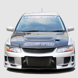 Charge Speed Vented Hood: Carbon - Mitsubishi EVO 7/8/9