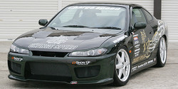 Charge Speed Front Fenders (Pair): 20mm Wide Body, FRP Material - Nissan Silvia / 240SX S15