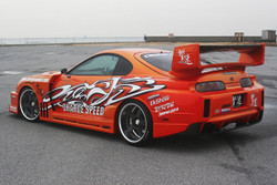 Charge Speed Super GT Wing w/ CF Top - Toyota Supra JZA80