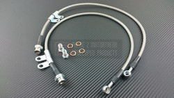 P2M Steel Braided Front Brake Lines - Nissan 350Z / Infiniti G35