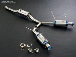 J's Racing R304 SUS Stainless Exhaust 60RS Dual - Honda S2000 AP1 AP2