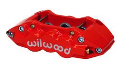 Wilwood W6A Radial Mount Caliper - Red Powder Coat Finish