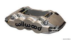 Wilwood W4A Radial Mount Caliper - 4 Piston - Nickel Plate Finish