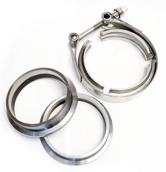 "3.00"" V-band Machined Flange and Clamp Set"