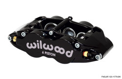 """Wilwood Forged Narrow Superlite 4 Radial Mount - 1.12/1.12"""" Pistons, 0.81"""" Disc - Universal Mount Location"""