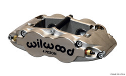"""Wilwood Forged Narrow Superlite 4 Radial Mount - Quick Silver / ST - 1.25/1.25"""" Pistons, 1.10"""" Disc - Universal Mount Location"""