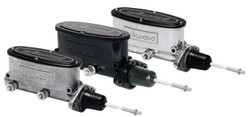 "Wilwood Aluminum Tandem Master Cylinder w/ Pushrod - 7/8"" Bore Size - Black / Media Burnished Finish"