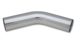 "Vibrant 1.5"" O.D. Aluminum 45 Degree Bend - Polished"