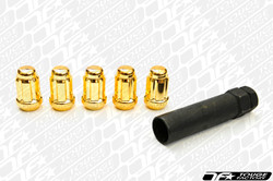 Gorilla Thin Small Diameter Gold Lug Nuts 12x1.50