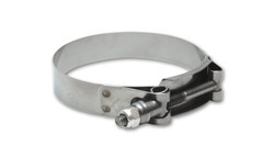 """Vibrant Stainless Steel T-Bolt Clamps (Pack of 2) - Clamp Range: 4.20""""-4.60"""""""