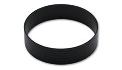 "Vibrant Aluminum Union Sleeve for 2-1/2"" Tube O.D. - Hard Anodized Black"
