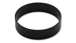 "Vibrant Aluminum Union Sleeve for 4"" Tube O.D. - Hard Anodized Black"
