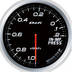 Defi Advance BF 60mm Intake Manifold Pressure Gauge White