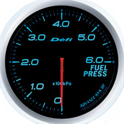 Defi Advance BF 60mm Fuel Pressure Gauge Blue