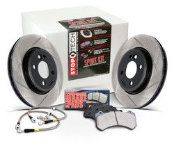 Stoptech Slotted Sport Brake Kit- Front: Scion FRS & Subaru BRZ  (Rotors, Pads, Lines)
