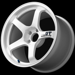 Advan GT 18x12.0 +27 - 5x114.3 - Semi-Gloss Black / Racing White