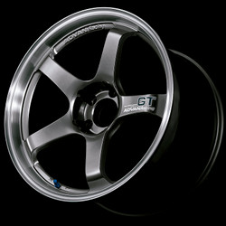 Advan GT 18x9.0 +35 - 5x114.3 - Racing Metal Black with Machined Lip