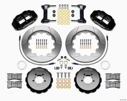 "Wilwood Forged Narrow Superlite 6R Big Brake Front Brake Kit (Hat) - 6 Piston - 18"" Min Wheel Dia - Slotted Rotor - Subaru Impreza WRX 2002-12"