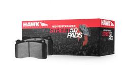 Hawk HPS 5.0 Rear Disc Brake Pads - 97-01 Acura Integra, 02-06 RSX, 04-08 TSX, 00-09 Honda S2000