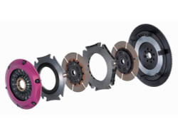 Exedy Racing Twin Metallic Clutch Kit - 89-98 Nissan 240SX KA24DE