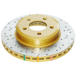 DBA 4000 Drilled and Slotted Rear Brake Rotors - 300ZX Z32 / Skyline GTR R32