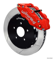 Wilwood Red Forged Narrow Superlite 6R Slotted Big Brake Kit - 09-14 Nissan 370Z
