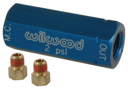 Wilwood Residual Pressure Valve with Fittings - 2 psi / Blue
