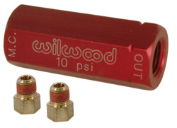 Wilwood Residual Pressure Valve with Fittings - 10 psi / Red