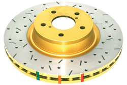 DBA 4000 Series Drilled and Slotted Rear Disc Brake Rotor - 01-07 BMW M3 E46