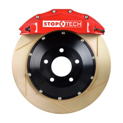 StopTech Red Front Slotted Coated Big Brake Kit - 2006 BMW M3 E90/E92