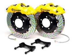 Brembo GT Yellow Drilled Front Big Brake Kit 345x28mm - 08-15 Mitsubishi Evolution X