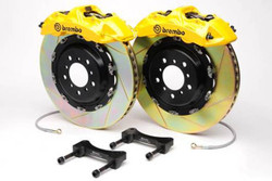 Brembo GT Yellow Slotted Front Big Brake Kit 350x34mm - 08-15 Mitsubishi Evolution X