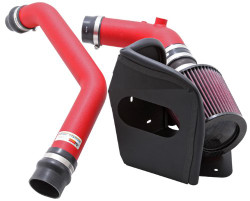 K&N 69 Series Typhoon Wrinkle Red Air Intake System - 08-14 Mitsubishi Evolution X