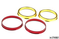 TF Aluminum Hubcentric Rings Honda S2000 (2x 70mm x 73mm Front / 2x 64mm x 73mm Rear)